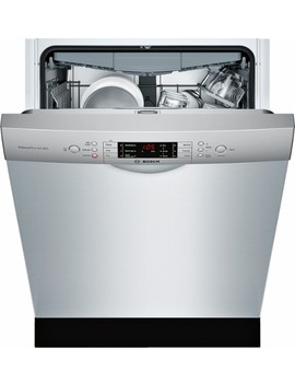 """800 Series 24"""" Tall Tub Built In Dishwasher With Stainless Steel Tub   Stainless Steel by Bosch"""