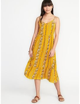 Fit &Amp; Flare Cami Midi Dress For Women by Old Navy