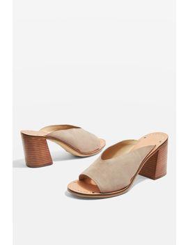 Netty Block Heel Mule Sandals by Topshop