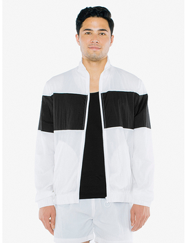 Crinkle Nylon Team Jacket by American Apparel