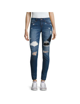 Rewash Destructed Skinny Jeans Juniors by Rewash