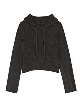 Cropped Hooded Cashmere Sweater by The Elder Statesman