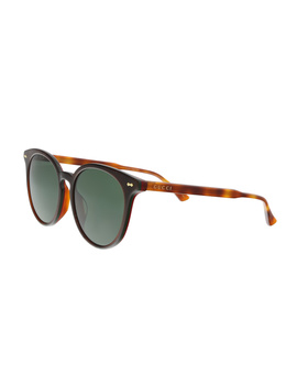 Gg0195sk 005 Brown/Amber Round Sunglasses by Gucci