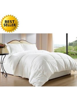 Celine Linen Down Alternative Double Filled Comforter King/Cal King , White by Celine Linen
