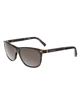 Ez0009/S 52j Dark Tortoise Rectangle Sunglasses by Ermenegildo Zegna