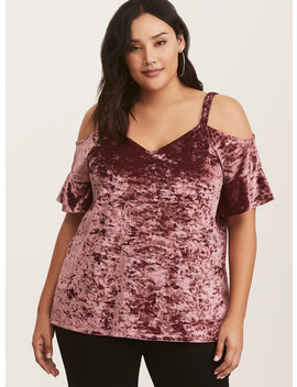 Plum Velvet Cold Shoulder Top by Torrid