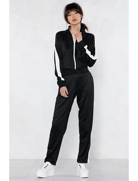Stay On Track Jacket And Pants Set by Nasty Gal