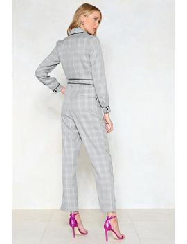 Tailor To Your Needs Check Jumpsuit by Nasty Gal