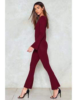 Really Don't Flare Jumpsuit by Nasty Gal