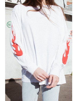 Camila Flames Top by Brandy Melville