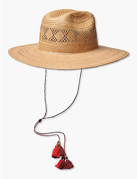 Open Weave Straw Hat by Lucky Brand