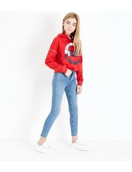 Teens Blue High Waist Super Skinny Jeans by New Look