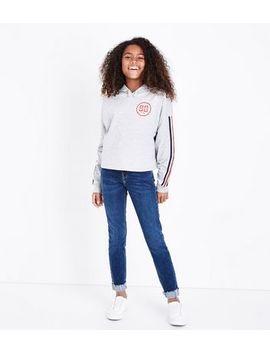 Teens Navy Turn Up Hem Skinny Jeans by New Look