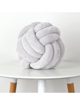 Mainstays Medium Decorative Infinity Knot Pillow Soft Silver by Mainstays