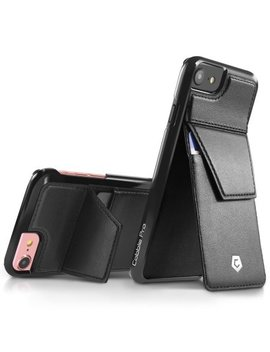 Cobble Pro Black Rear Slim Genuine Leather Card Wallet Shell Case (With Stand Feature) For Apple I Phone 7 / 6 / 6s by Cobble Pro