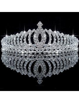 Lovely Crystal Tiara Wedding Bridal Headband Crown Bridesmaid Party Princess Headpieces Veil Hair Accessory  by Shop1185116 Store