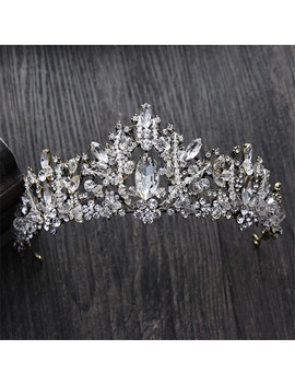 Cc Tiaras And Crowns Hairband Vintage Crystal Rhinestone Beads Wedding Hair Accessories For Bridal Engagement Jewelry Gift Hg090 by Ali Express