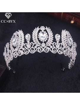 Cc Baroque Tiaras And Crowns Hairband Luxury Pageant Crystal Rhinestones Pearl Wedding Hair Accessories For Bridal Jewelry Hg161 by Ali Express
