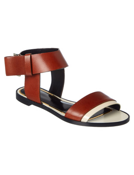 Lanvin Leather Ankle Buckle  Sandal by Lanvin