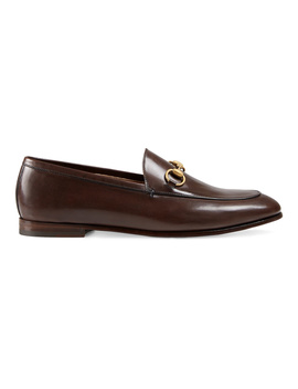 Gucci Women's  Brown Leather Loafers by Gucci