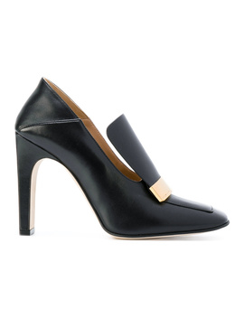 Sergio Rossi Women's  Black Leather Pumps by Sergio Rossi