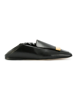 Sergio Rossi Women's  Black Leather Loafers by Sergio Rossi