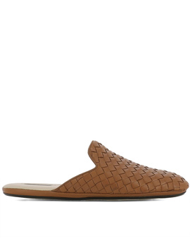Bottega Veneta Women's  Brown Leather Sandals by Bottega Veneta