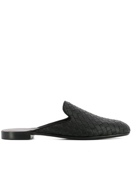 Bottega Veneta Women's  Black Leather Sandals by Bottega Veneta