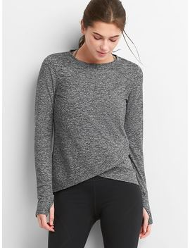 Gap Fit Tulip Front Top In Brushed Jersey by Gap