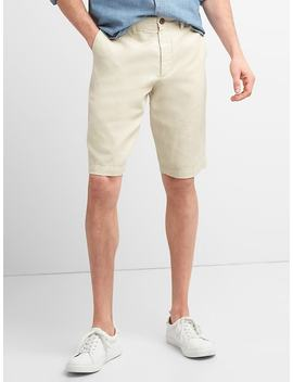 "12"" Chino Shorts In Cotton Linen by Gap"
