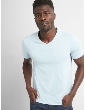 Vintage Wash Short Sleeve V Neck T Shirt by Gap