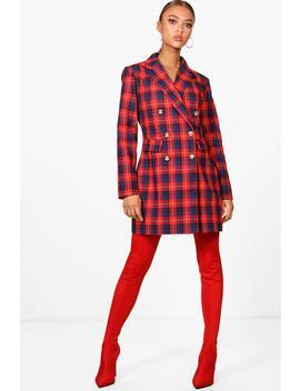Daniella Check Blazer Dress by Boohoo
