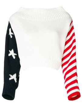 Stars And Stripes Oversized Sweater by Monse