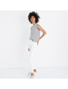 Mockneck Tank Top In Stripe by Madewell
