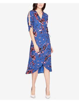 Floral Print Wrap Dress, Created For Macy's by Rachel Rachel Roy