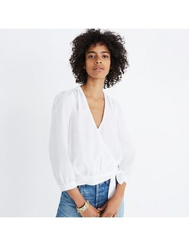 Wrap Top In Eyelet White by Madewell