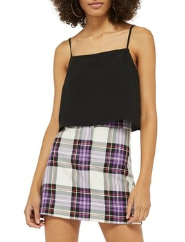 Square Neck Crop Camisole by Topshop