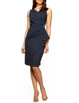 Side Ruched Dress by Alex Evenings