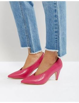 Raid Amber Hot Pink Kitten Heeled Shoes by Raid