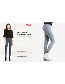 Mile High Pinstriped Skinny Ankle Jeans by Levi's
