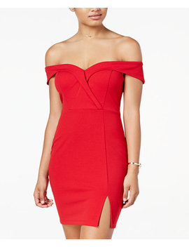 Juniors' Off The Shoulder Bodycon Dress by Speechless