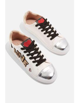 Cutie Slogan Sneakers by Topshop