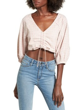 Chriselle X J.O.A. Ruched Front Crop Top by J.O.A.