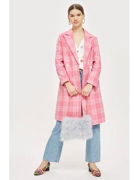 Vivian Check Smart Coat by Topshop