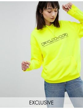 Puma Exclusive To Asos Sweatshirt In Neon Yellow With Logo by Puma