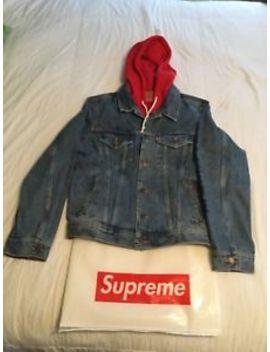 Supreme X Levi's Hoodie Trucker Denim Jacket by Supreme