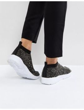 Asos Dusk Embellished Sock Sneakers by Asos Collection