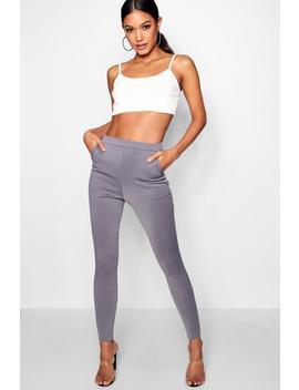 Carmilla Scuba Skinny Stretch Trousers by Boohoo