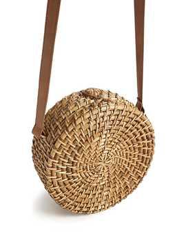 Woven Circular Handbag by Forever 21