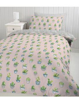Pink Cactus Single Duvet Set by New Look